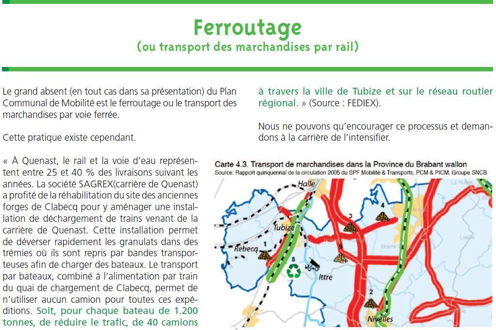 Carrière: transport par voie ferrée
